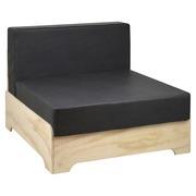 Sofá Individual Industrial Box con Cojines de Polipiel