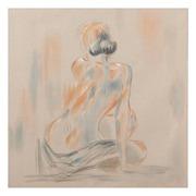 Pintura Desnudo en Lienzo con Bastidor 3 x 80 x 80 cm