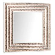 Espejo de Pared de Madera Abeto y Bambú 4 x 62 x 62 cm