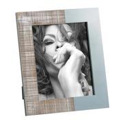 Portafotos 20x25 de Madera Azul Blanco 2,2 x 28 x 33 cm