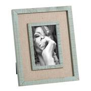 Portafotos 10x15 de Madera de Pino Azul Claro 2,2 x 20 x 25 cm