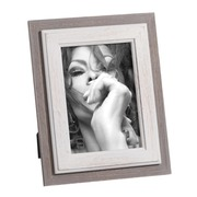 Portafotos 13x18 Madera de Pino Gris Blanco 2 x 20,8 x 25,8 cm