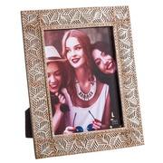 Portafotos 15x20 en Poliresina Crema Plata 1,8 x 22 x 27 cm