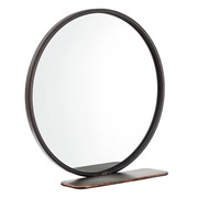 Espejo de Pared Industrial de Hierro Gris 13 x 50 x 49,5 cm