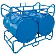 Soporte de Acero Azul 2 Bidones de 250 litros Ref.3030