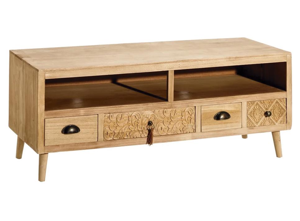 Mueble Televisión en Madera con 4 Cajones 38 x 119,5 x 47,5 cm