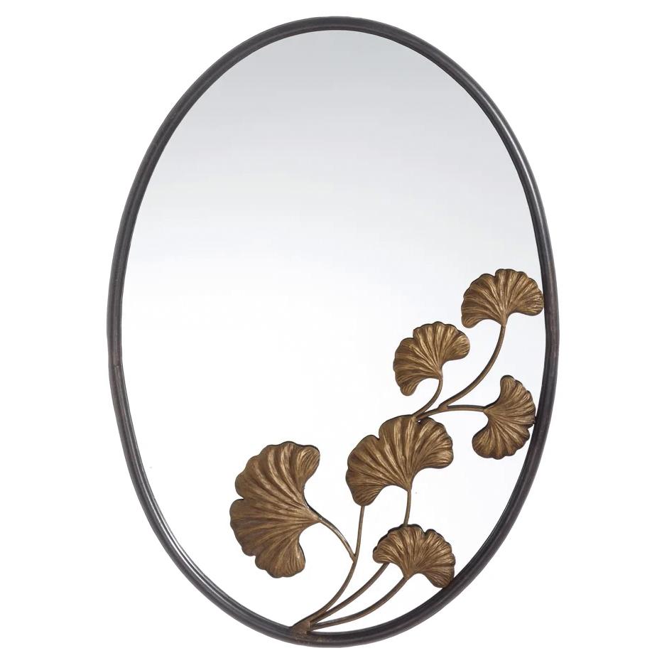 Espejo Industrial de Pared Hojas de Hierro 3 x 43,5 x 60 cm