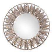 Espejo de Pared Hojas en Hierro 5 x 42 x 42 cm
