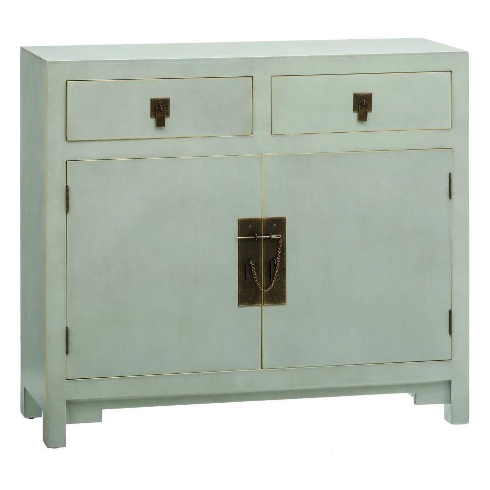 Mueble Recibidor Oriental de Madera 2 Cajones 26 x 90 x 78 cm
