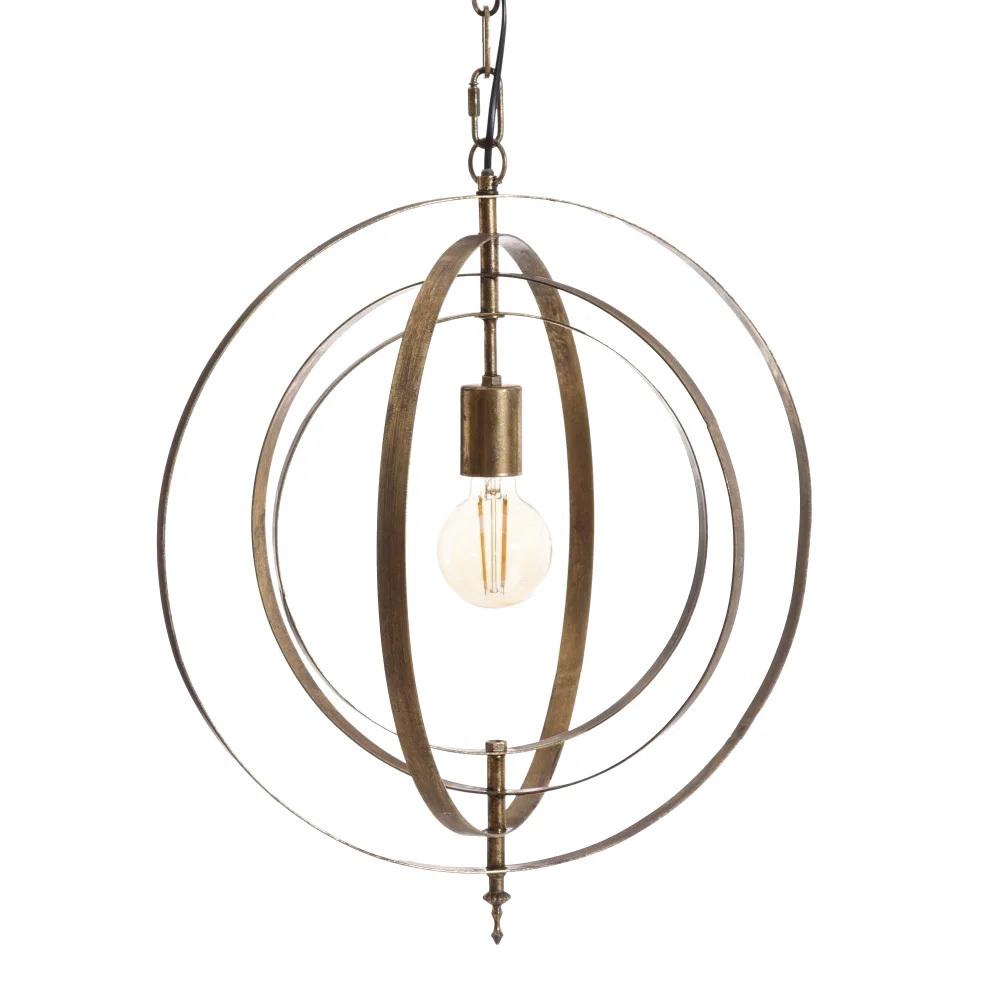 Lámpara de Techo en Hierro Oro 12 x 46,5 x 46,5 cm