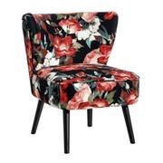Sillón Tapizado en Poliéster Flores Rojo 73 x 65 x 76 cm