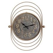 Reloj de Pared Vintage en Zinc Oro Viejo