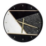 Reloj de Pared de PVC Oro Negro 4,3 x 37 x 37 cm