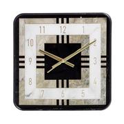 Reloj de Pared en PVC Negro Oro 4,3 x 36 x 36 cm