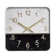 Reloj de Pared de PVC Blanco Negro 4,3 x 36 x 36 cm