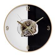 Reloj de Pared Círcular de PVC Blanco Negro 4,3 x 37 x 37 cm
