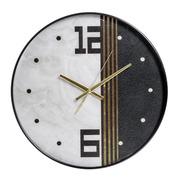 Reloj de Pared de PVC Negro Blanco 4,3 x 45,2 x 45,2 cm