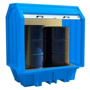 Cubeto Armario Retención Cerrado 2 Bidones de 200 litros