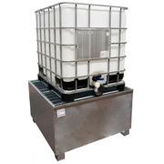 Cubeto Galvanizado con Rejilla para 1 GRG de 1000 litros