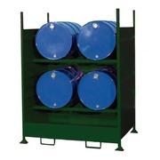Cubeto Estantería Retencion 4 Bidones de 200 litros