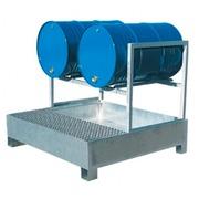 Cubeto Estantería Retenedor para 2 Bidones de 200 litros