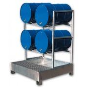 Cubeto Estantería Retención 4 Bidones de 200 litros