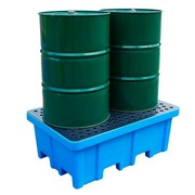 Cubeto Retenedor Transportable 2 Bidones de 200 litros