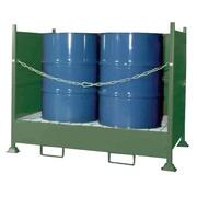 Cubeto Retenedor Vertical con Laterales 4 Bidones de 200 litros
