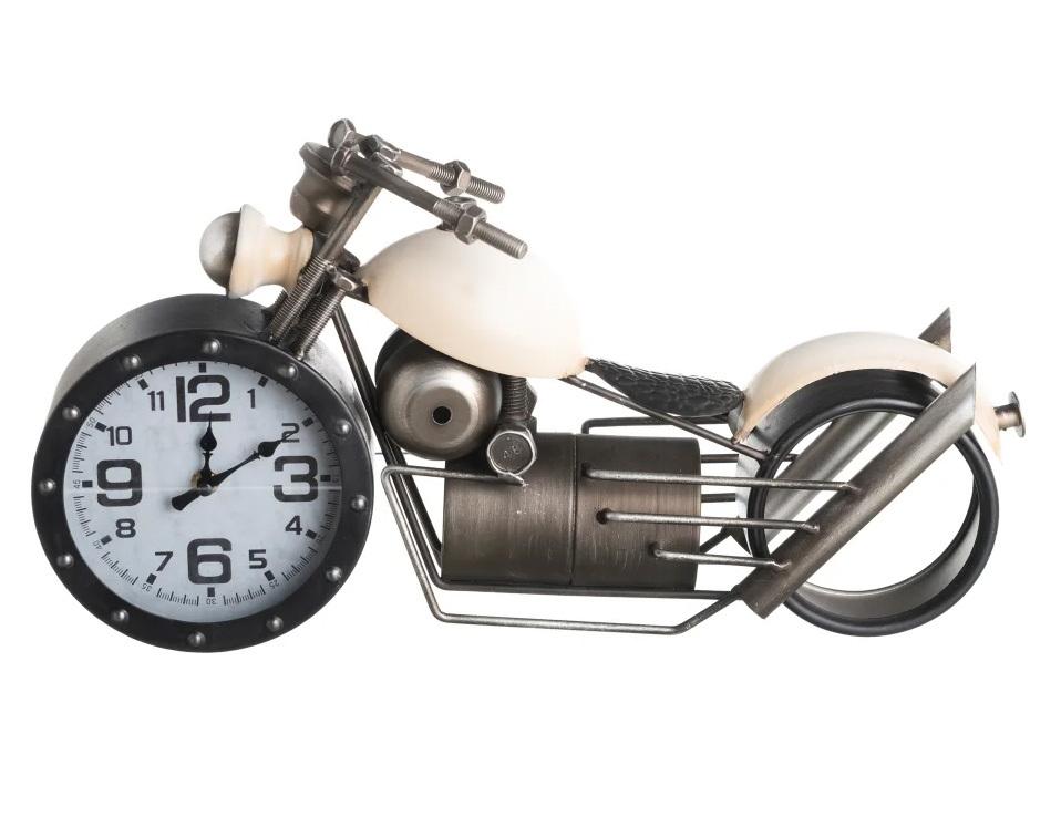 Reloj Moto Industrial Sobre Mesa en Hierro 14,5 x 50 x 25 cm