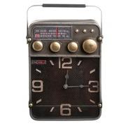 Rreloj Radio Sobre Mesa en Hierro 9,5 x 24 x 35,5 cm