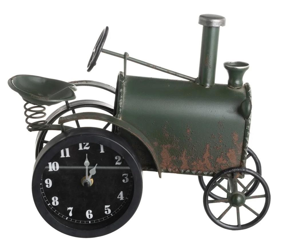 Reloj Tractor Vintage Sobre Mesa en Hierro 14 x 30 x 25 cm
