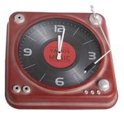 Reloj Tocadiscos de Hierro 8,5 x 35,5 x 35,5 cm