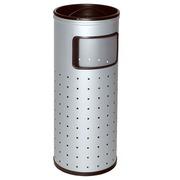 Papelera Cenicero Metálica Perforada 33 litros Ref.400-R