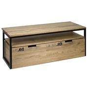 Mueble TV iCub Three con Estante y Cajón Extraíble Doble