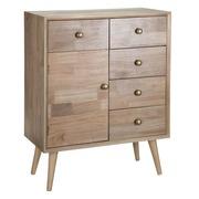 Mueble Recibidor de Madera Natural 1 Puerta 35 x 65 x 85 cm