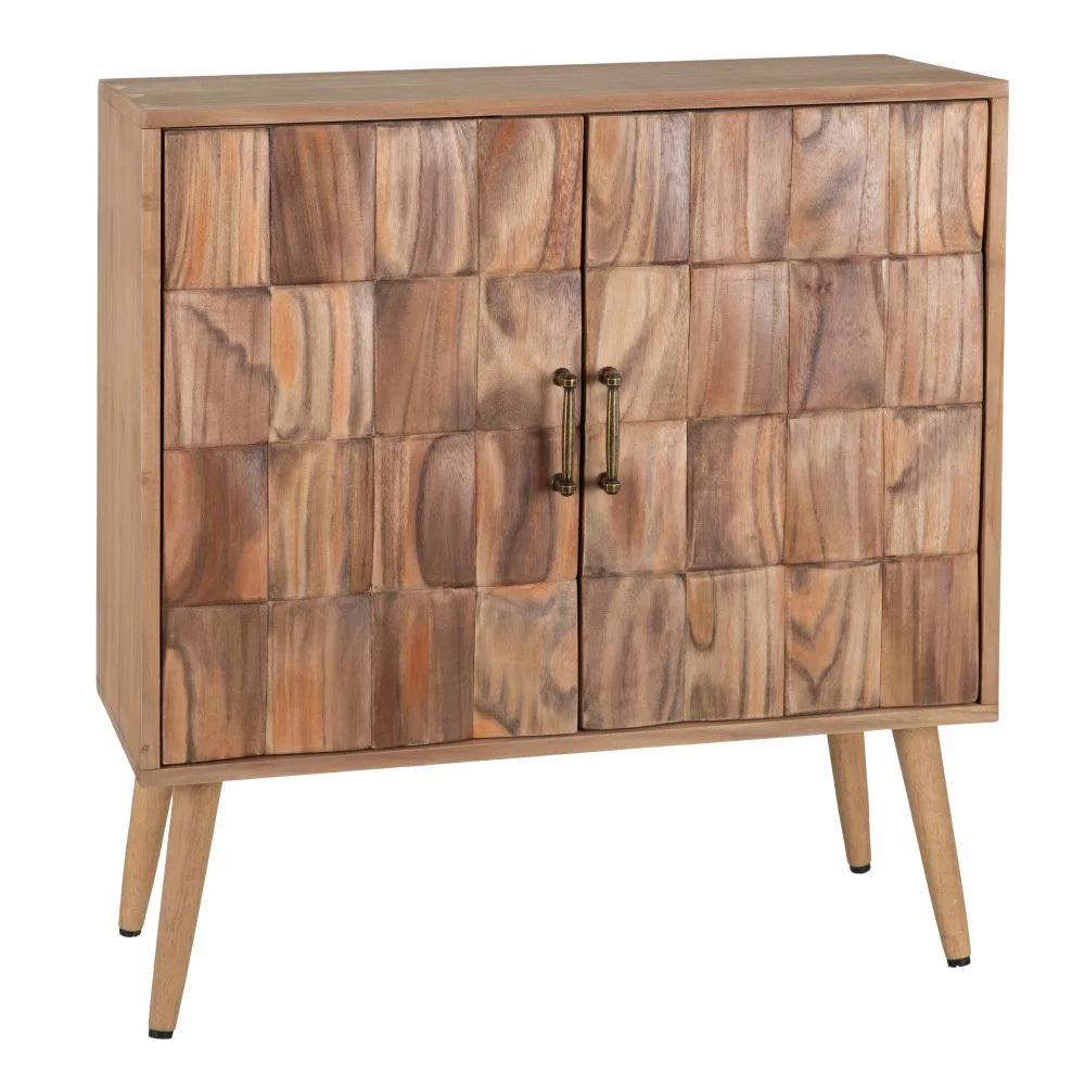 Mueble Auxiliar Madera Paulonia Natural 38 x 76 x 83 cm