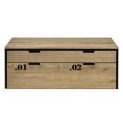 Mueble TV iCub Three Cajón Superior y Cajón Extraíble Doble