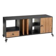 Mueble de TV de Madera con Ruedas 1 Puerta 38 x 120 x 52 cm
