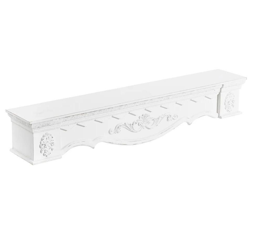 Ménsula de Madera de Abeto Blanca 20 x 115,5 x 21 cm