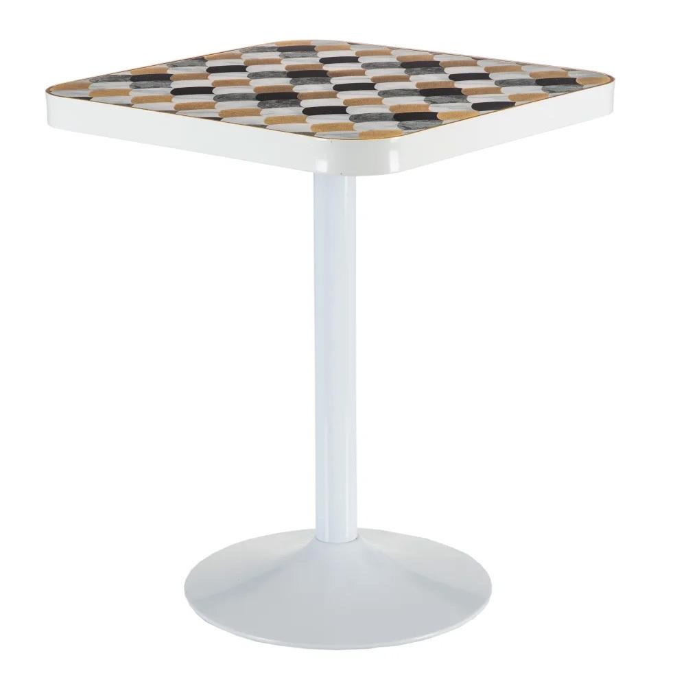 Mesa Bar Tablero PVC Geométrico 60 x 60 x 75 cm