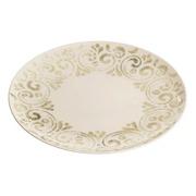 Plato Llano Beige de Porcelana 26 cm