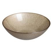 Bowl de Cristal Beige 20 cm
