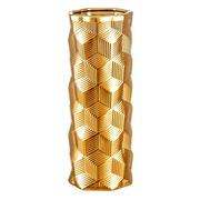 Jarrón Oro de Cerámica 14 x 14 x 36,5 cm