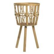 Macetero de Bambú Natural 32 x 32 x 56 cm