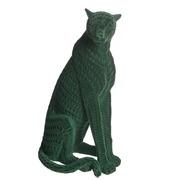 Leopardo Decorativo de Resina Verde 15 x 17 x 32,8 cm