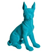 Perro de Resina Azul 18 x 30 x 41,5 cm