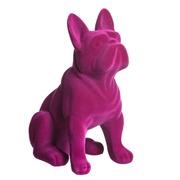 Perro de Resina Fucsia 15,4 x 25 x 31,8 cm