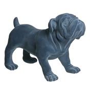 Perro de Resina Azul 23 x 42 x 30,5 cm