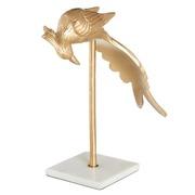 Pájaro Decorativo de Latón Oro 21 x 12,5 x 43 cm