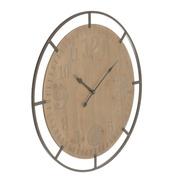 Reloj de Pared de Madera Dm Natural 4 x 83 x 83 cm